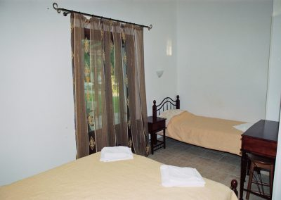 Interior view  single bed Razi beach Lefokastro