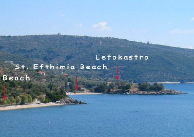 The beaches in Lefokastro